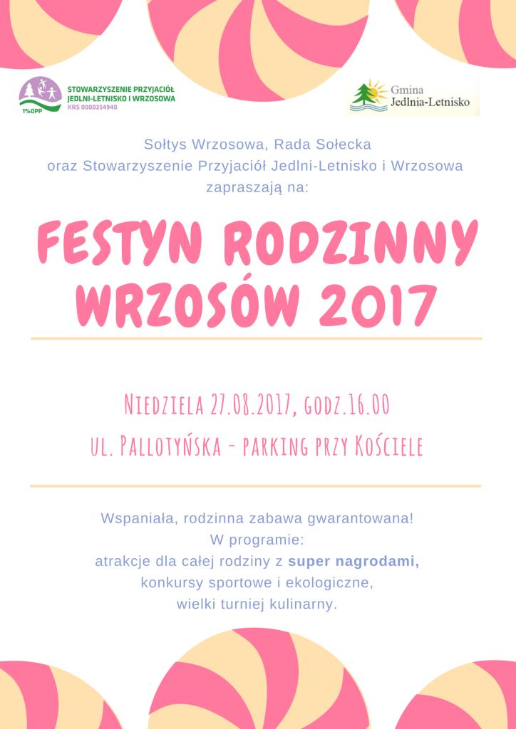 Festyn rodzinnyWrzosów 2017-plakat